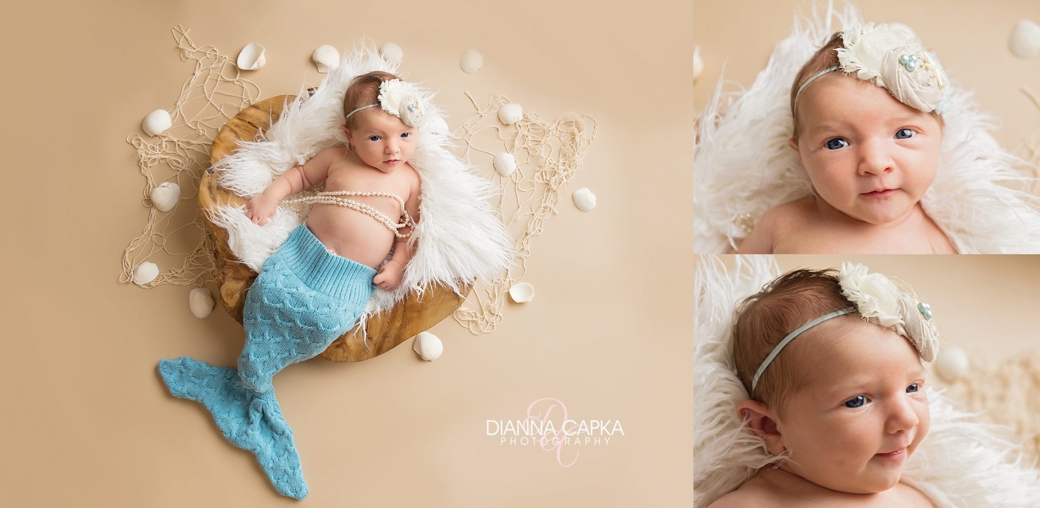 Elliette's newborn session Awake and alert newborn baby
