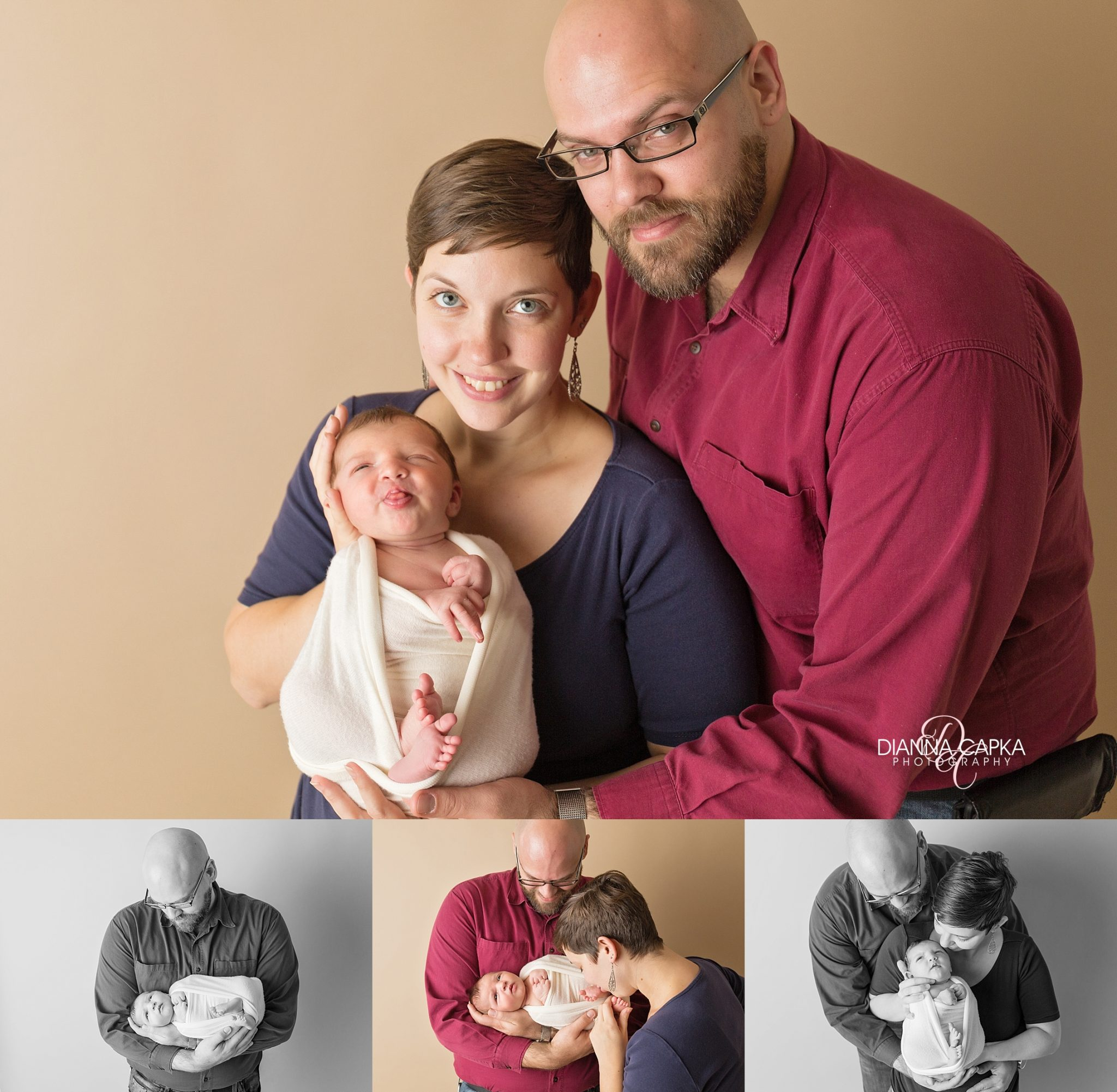 newborn bloopers, baby making goofy faces