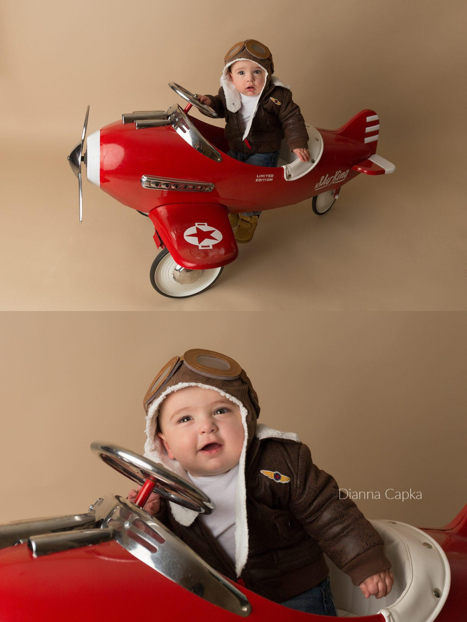 Pedal Airplane one year old portrait session
