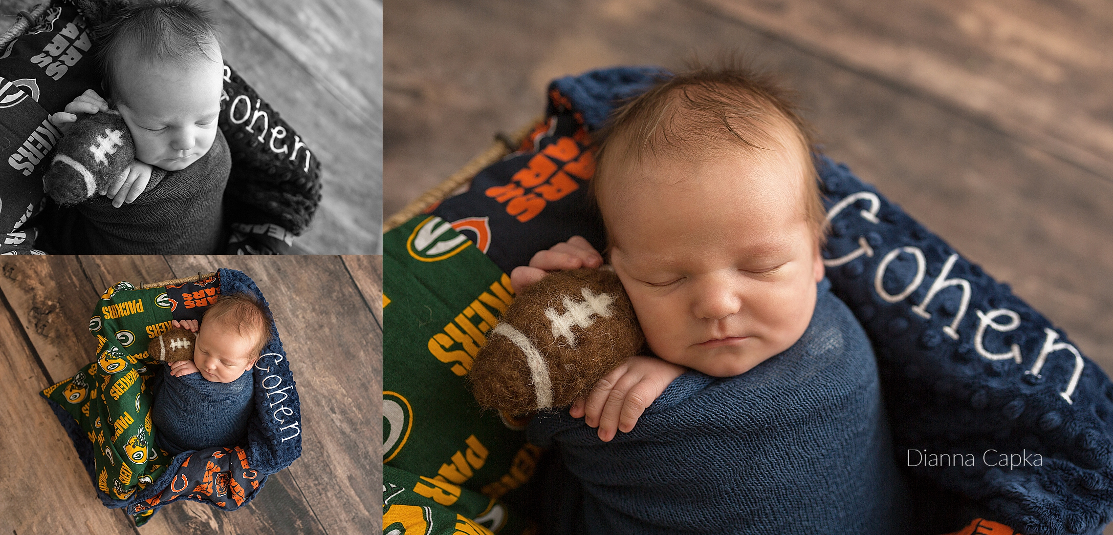 newborn baby boy cohen bears and packers fan baby photos lancaster pa