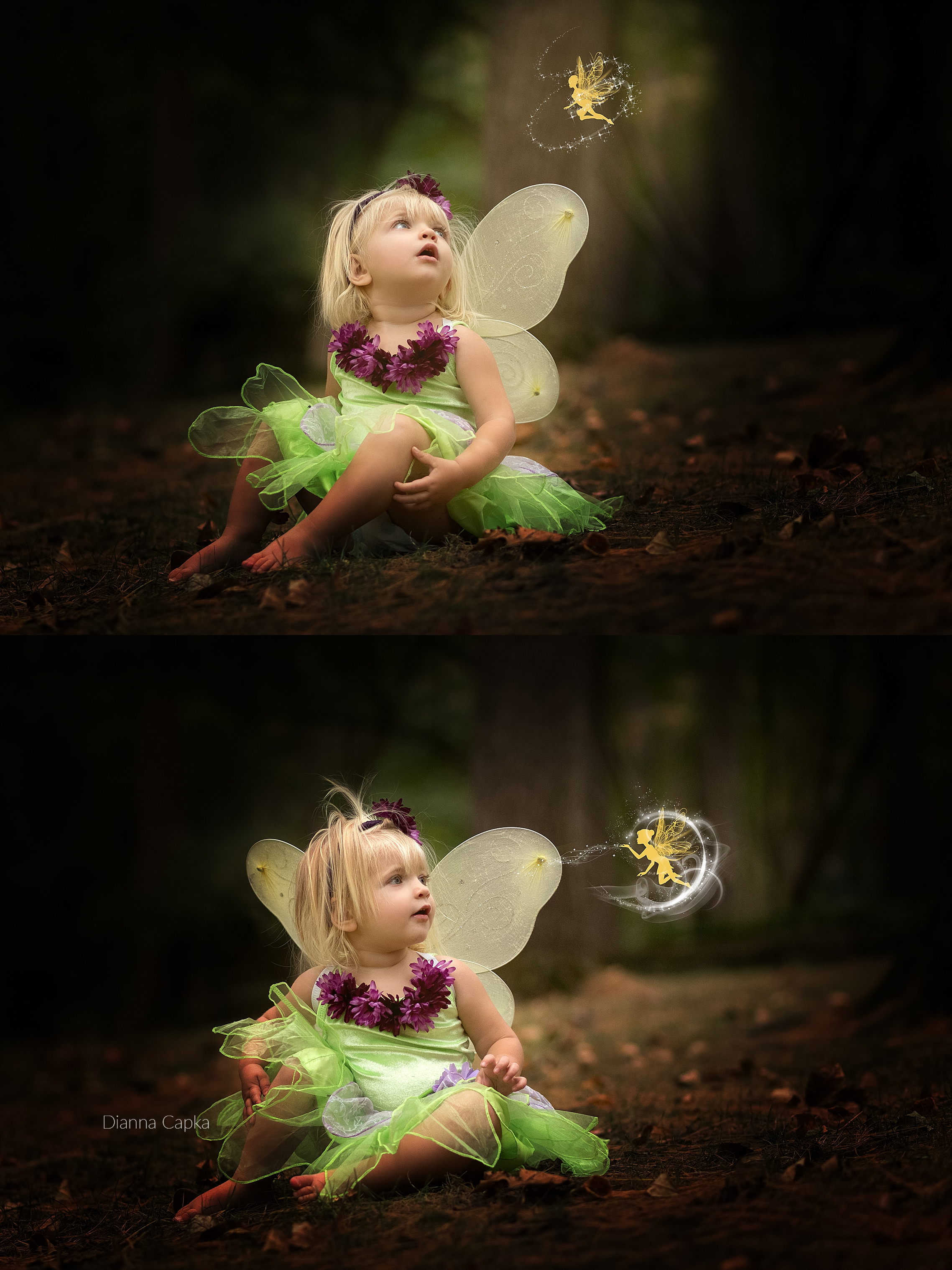 Fairy and photoshop magic Ellie is two Lancaster family photographer