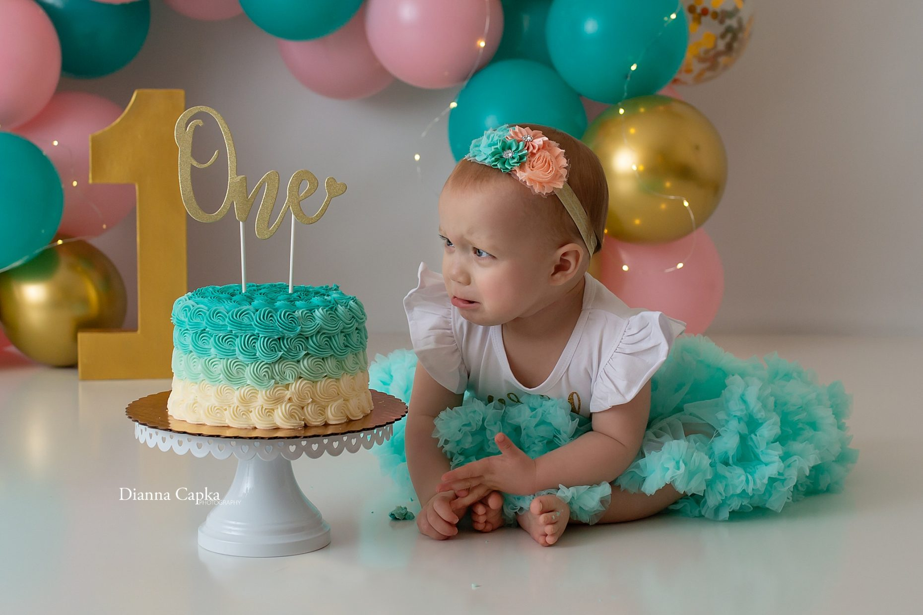 Lancaster PA Cake Smash photographer one year photographer central pa